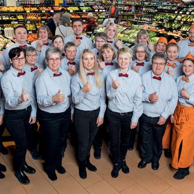 Team des tegut Marktes Marburg Unistraße