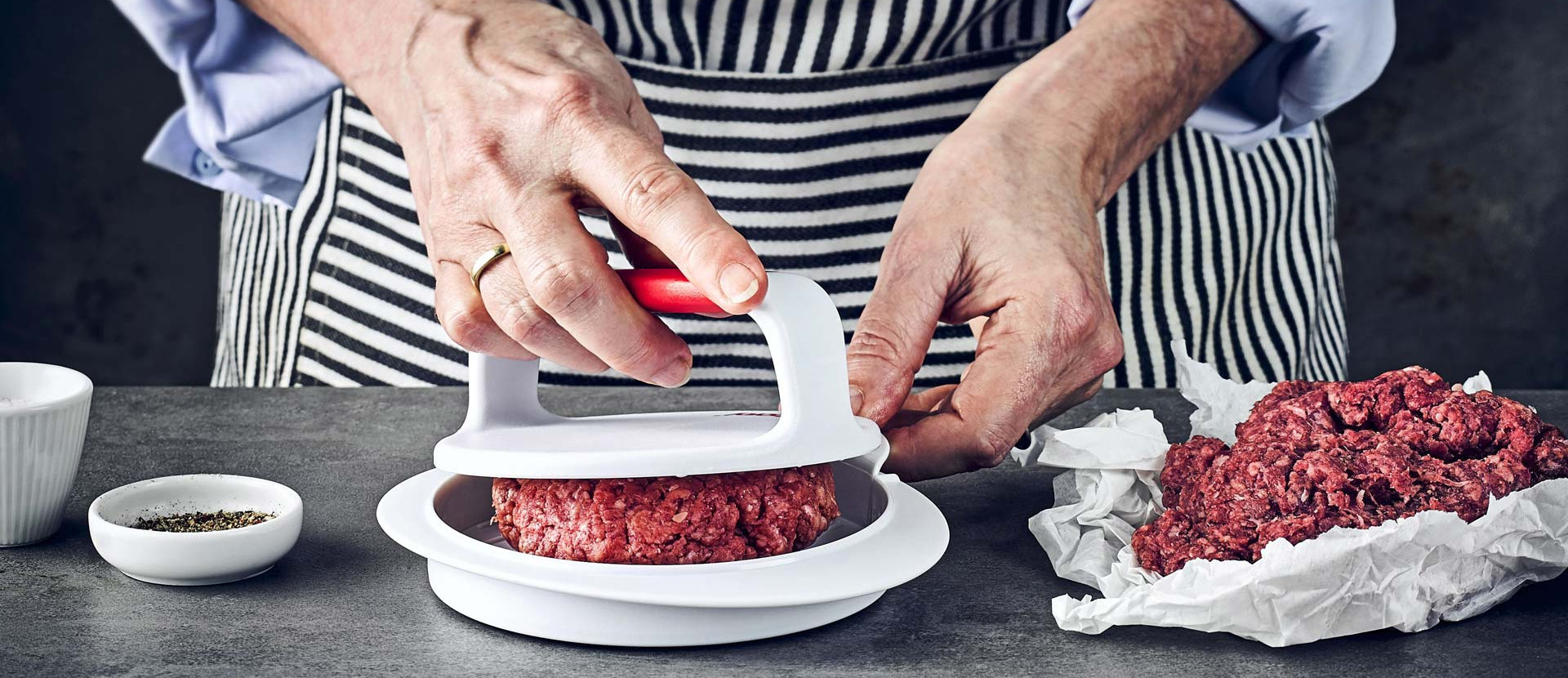 Hackfleisch Burgerpresse