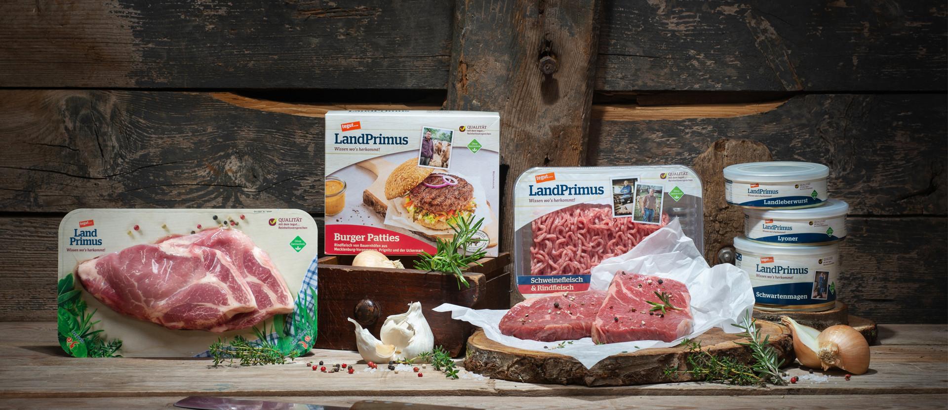 verschiedene tegut LandPrimus Produkte