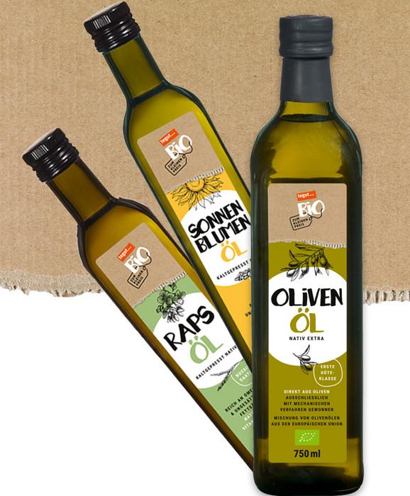 Drei verschiedene Bio Öle