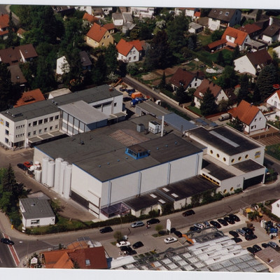 Luftaufnahme des Firmengebäude von Burgis