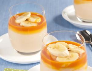 Fruchtiger Reispudding mit Banane und Sanddornsauce