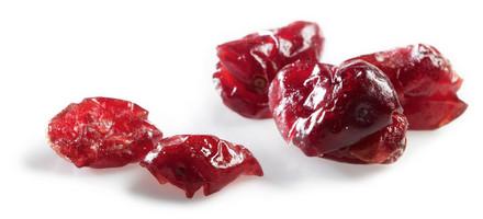 einzelne getrocknete Cranberries