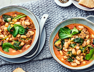 Weiße-Bohnen-Suppe