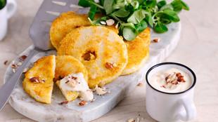 Sellerieschnitzel mit Tofunnaise