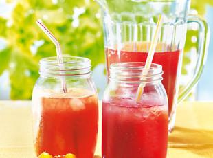 Pfirsich Vanille Birnen Granatapfel Limonade