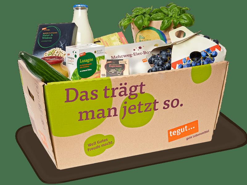 Angebote Einkaufskarton mit Lebensmitteln