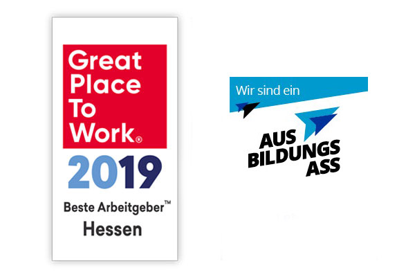 Logos ausbildungs Ass 2019 und Great Place to Work 2019
