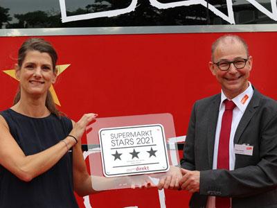 """Peter Geibel bekommt die """"Supermarkt Stars 2021"""" Auszeichnung überreicht"""