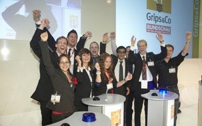 Csm Siegerehrung Nachwuschwettbewerb Grips und Co mit Arne Schaefer