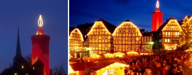 Schlitzer Weihnachtsmarkt mit der größten Kerze der Welt