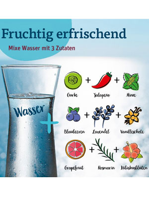 Mixvorschläge für Infused Water