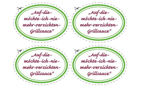 Etikett Grillsauce