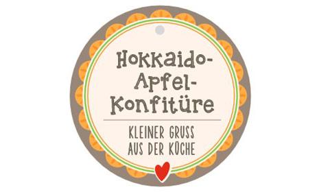 Etikett Hokkaido Apfelkonfitüre