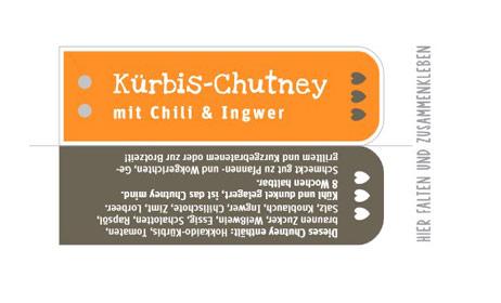etikett Kürbis Chutney