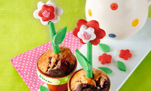 Muffin in Blumentopform
