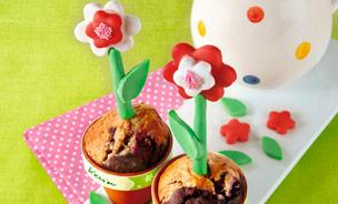 Muffin mit Blume