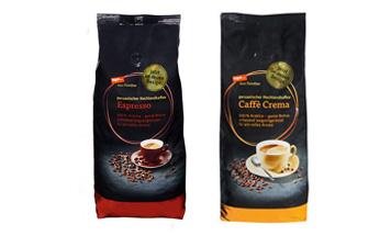 Packung Kaffee Crema und Espresso vom Feinsten