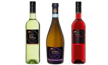 Riesling Prosecco Rotling Flaschen vom Feinsten