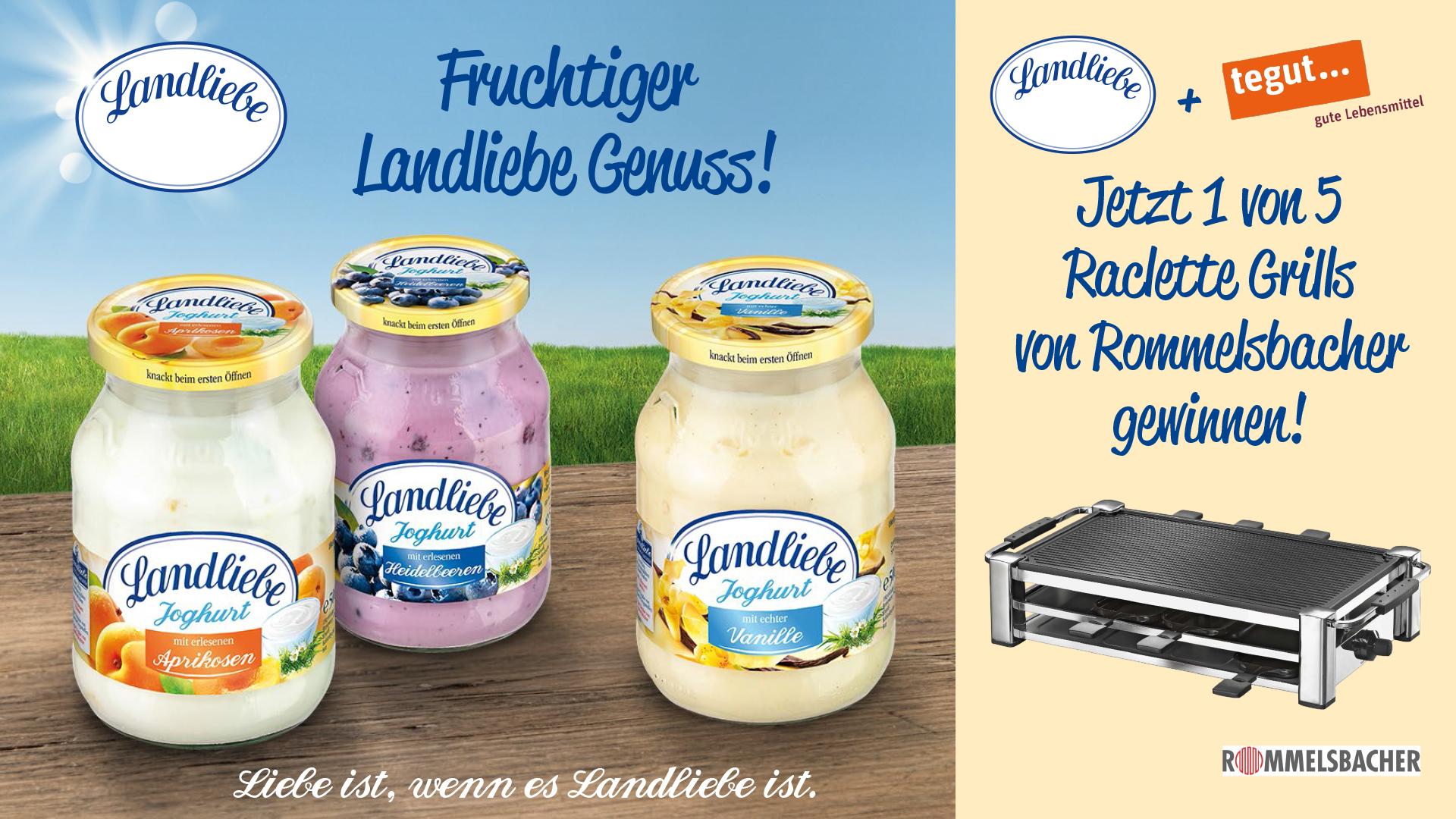 Gewinnspiel Landliebe Raclettegrill