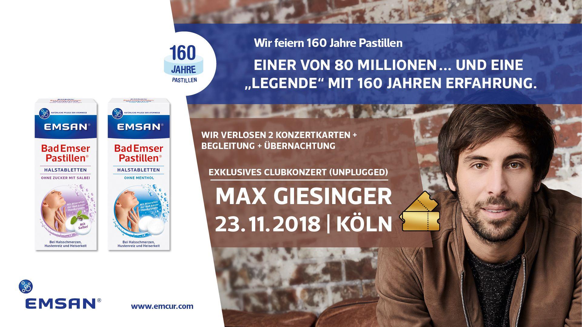 Tegut Gewinnspiel EMSAN Max Giesinger