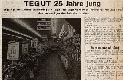 Artikel tegut 25 Jahre