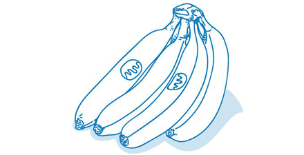 Fairness Illustration Bananen