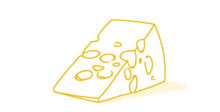 Illustration Stück Käse
