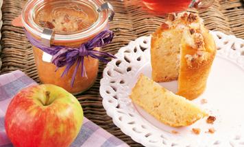 Apfelkuchen Macadamia im Glas