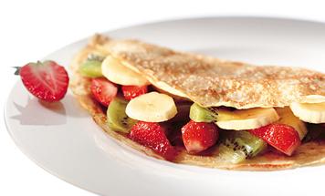 Bananen Kiwi Erdbeer Crepes