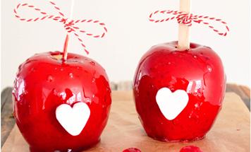 Candy Äpfel Valentinstag