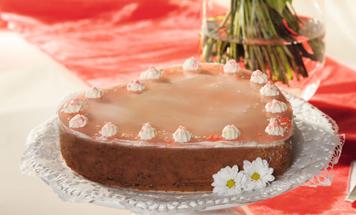 Kirsch Stracciatella Torte