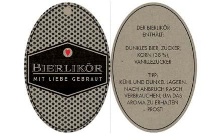 Druckvorage für Etikett für Bierlikör