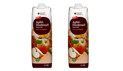 tegut Apfel Direktsaft im TetraPak