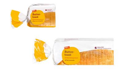 zwei Packungen tegut Buttertoast