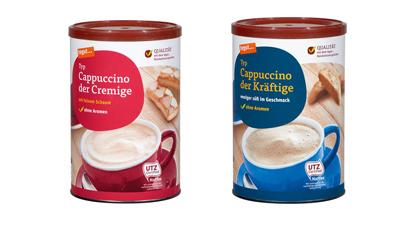 zwei Dosen tegut Cappuccino