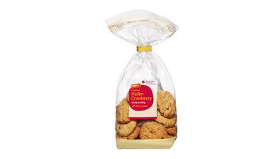 eine Packung Tegut Cookies Hafer Cranberry