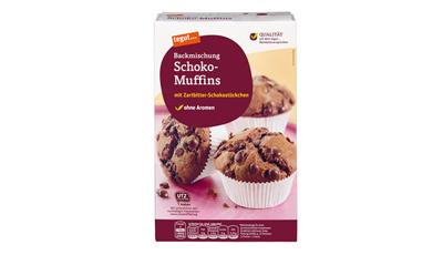eine Packung Backmischung tegut Schoko Muffins