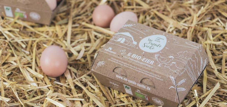 6er Packung Bio-Eier im Stroh