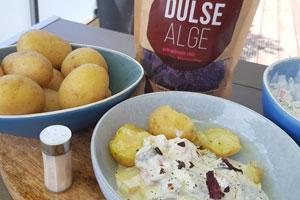 Dulse Algen mit Kartoffeln