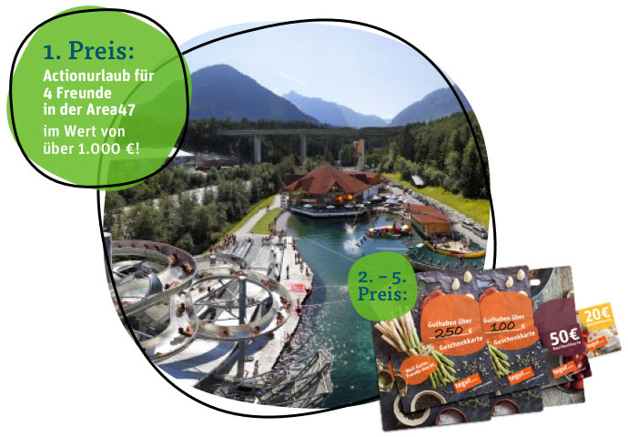 Gewinne: Area47 in Österreich und tegut... Geschenkkarten