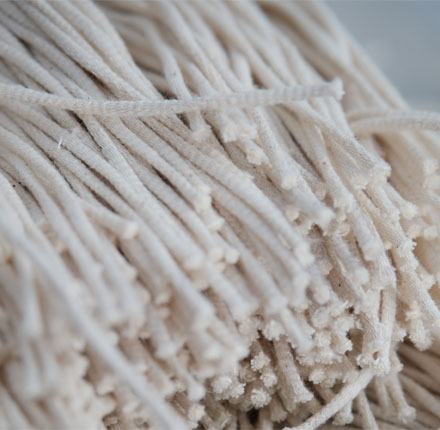 Kordeln der Manomama Bio Baumwollnetze