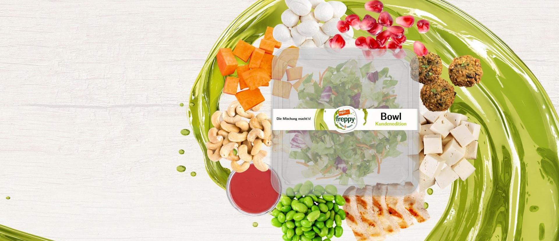 Zutaten für eine Salat-Bowl