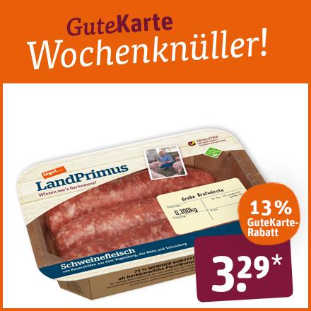 LandPrimus grobe Bratwurst aus Schweinefleisch