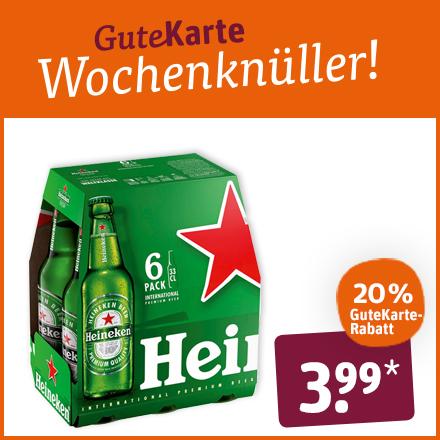Heineken Bier Sixpack