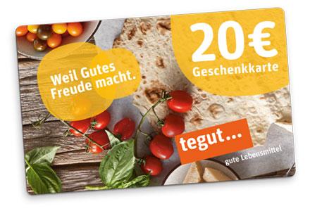 tegut Geschenkkarte 20 Euro