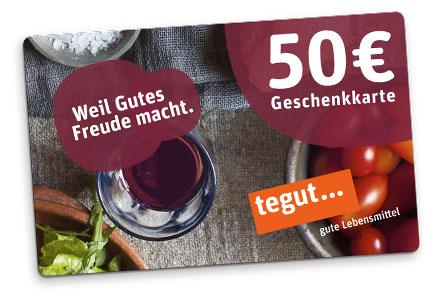 tegut Geschenkkarte 50 Euro