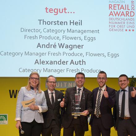 Preisübergabe des Retail Frucht Award 2019