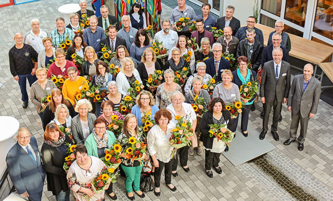 tegut Mitarbeiter bei Jubiliäumsfeier 2019