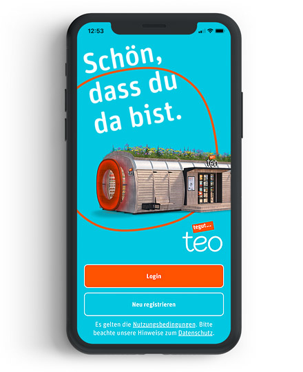 Screenshot der tegut teo App auf Handy